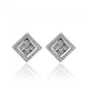 1.00 Carat Round Brilliant Cut Diamond Earrings